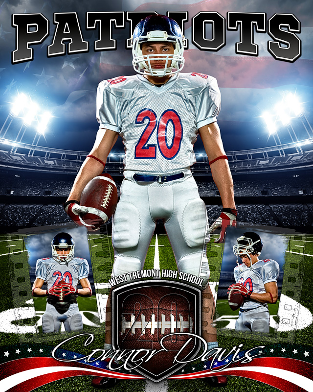 American Football 16x20 Photo Collage