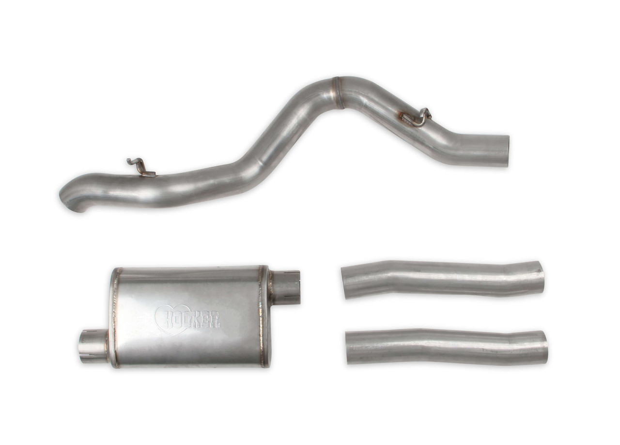 hooker ls swap 3 inch exhaust system for 1997 06 jeep wrangler tj bh13212
