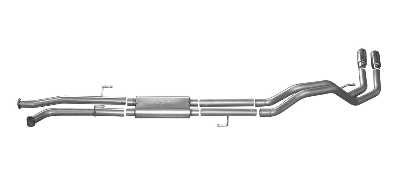 gibson 07 19 toyota tundra limited 5 7l 2 5in cat back dual sport exhaust stainless 67101