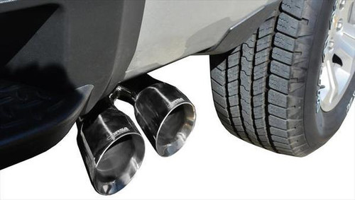 corsa 3 single side exhaust system with polished tips touring sound level 2014 2018 chevy silverado gmc sierra 5 3l v8 14848