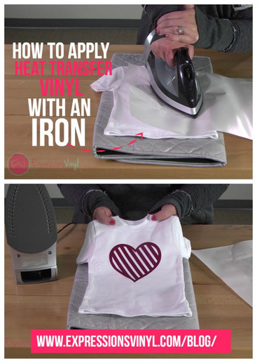 How To Apply Heat Transfer Vinyl With An Iron Expressions