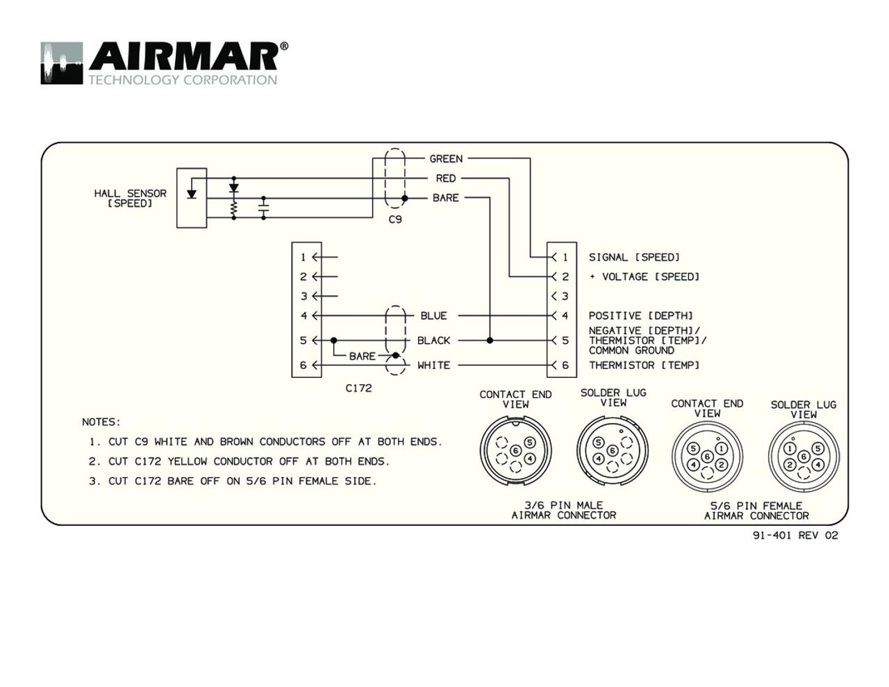 Airmar Wiring Diagram Garmin 6 pin (S) | Blue Bottle Marine
