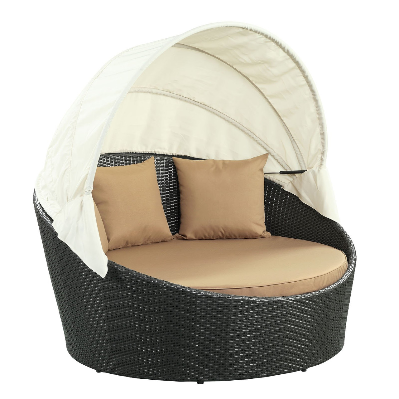 modway siesta canopy outdoor patio daybed eei 642 exp moc