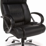 Ofm 810 Lx Avenger 500 Lb Chair In Black Or Brown Leather
