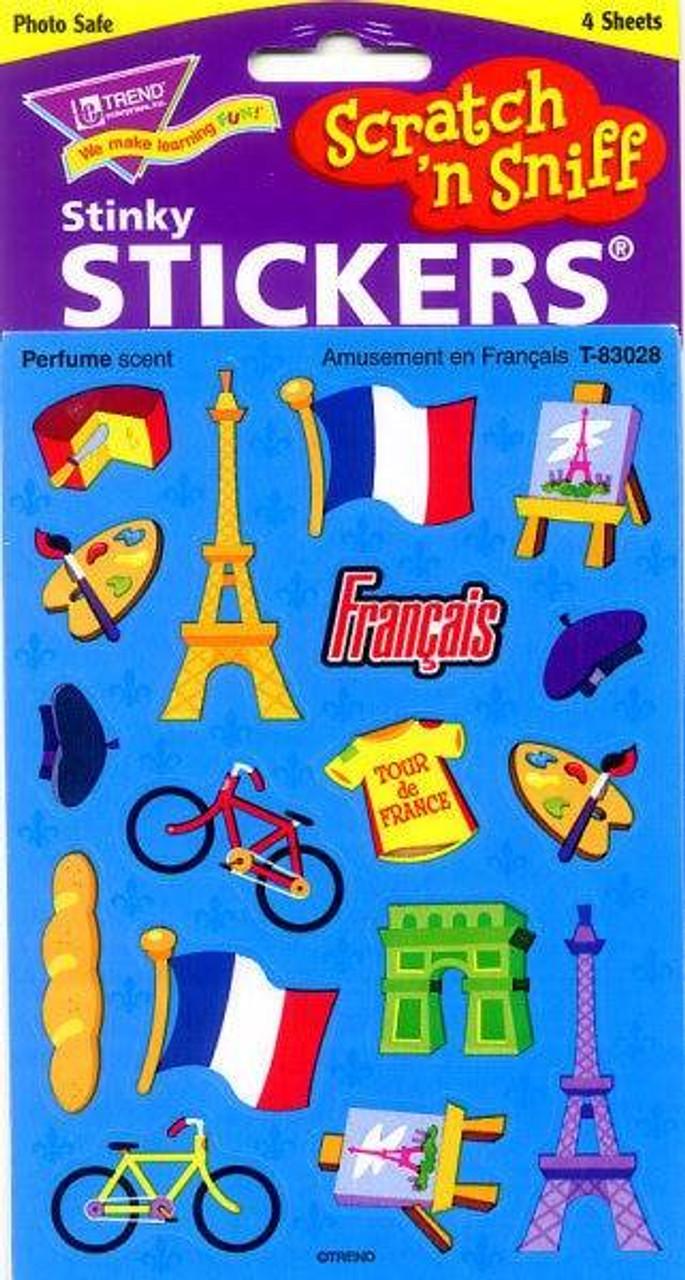 amusement en francais french scratch n sniff reward stickers