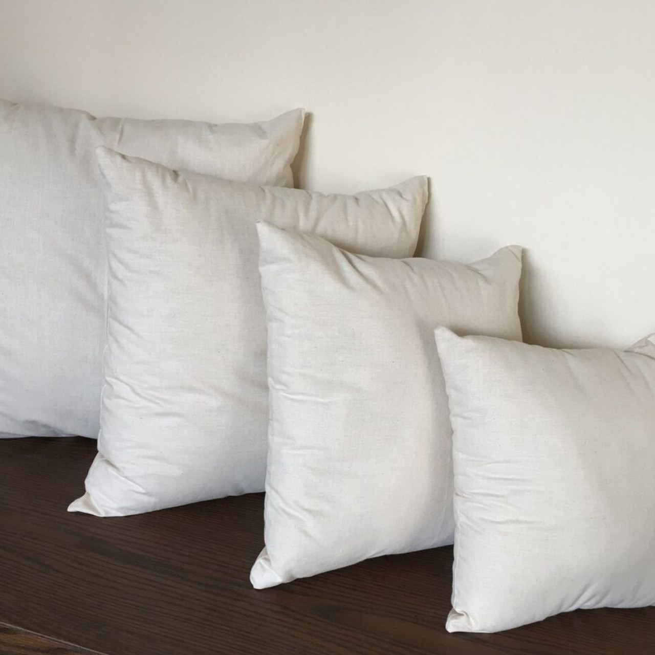 organic cotton filled pillow inserts with organic cotton covers