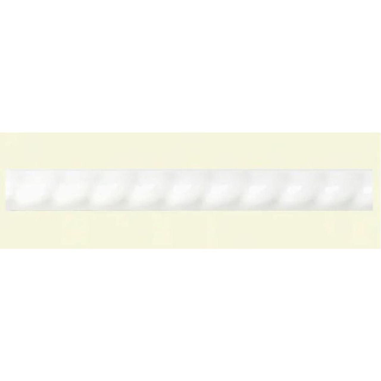 american olean starting line white ceramic pencil liner tile 1 2 in x 6 in