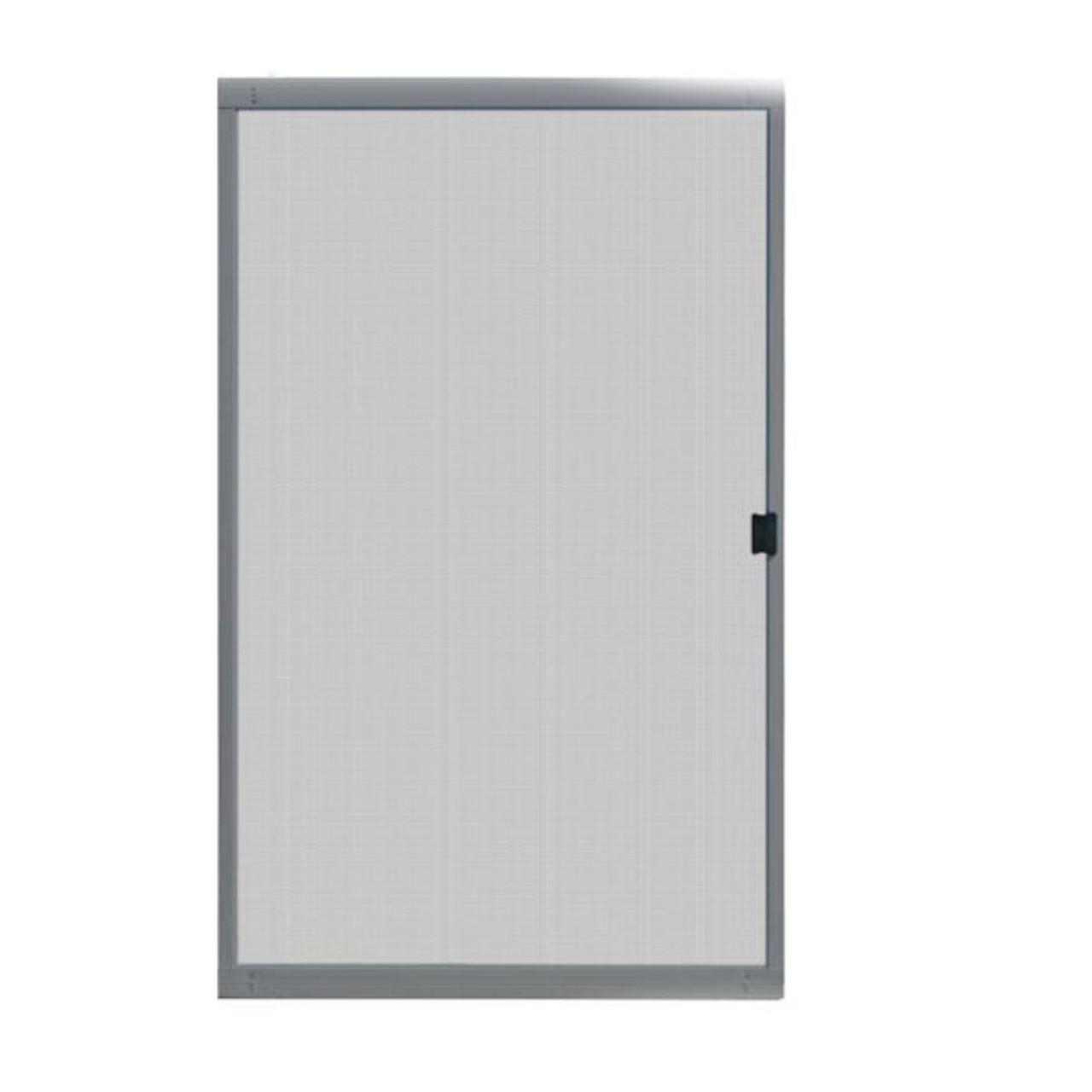 48 in x 80 in standard grey metal sliding patio screen door 121smfit48gs