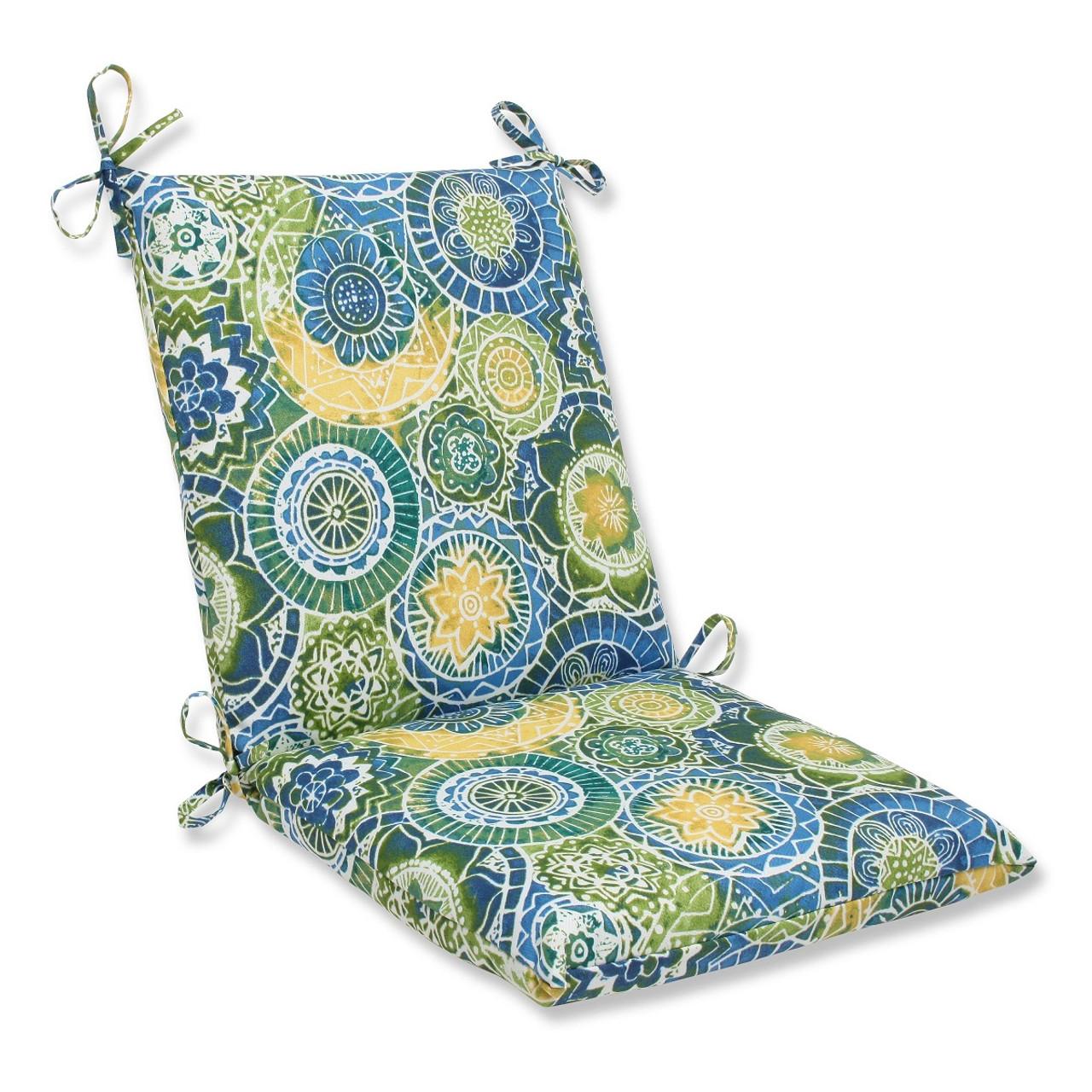 36 5 laguna mosaico blue green and yellow outdoor patio chair cushion