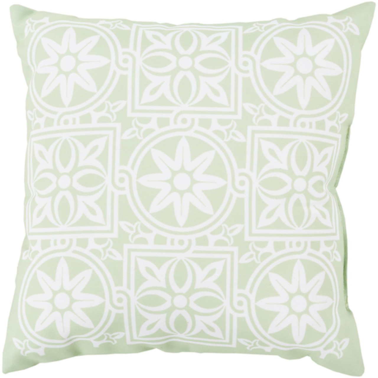 20 mint green and ivory contemporary square outdoor throw pillow cover