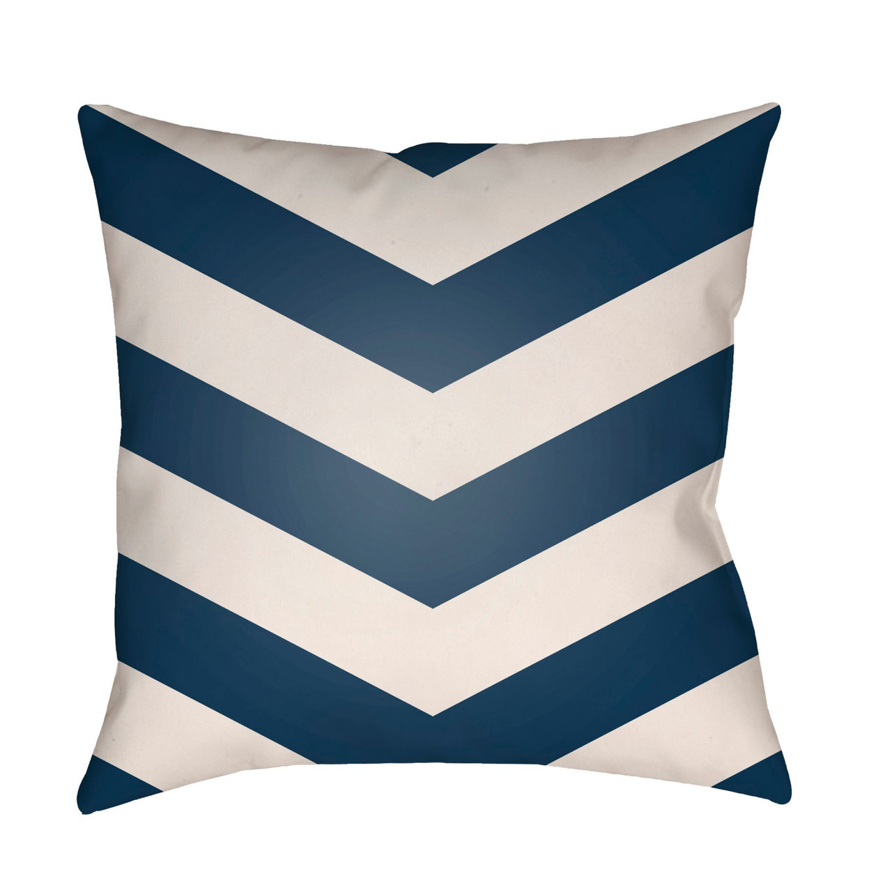 18 navy blue and white chevron square throw pillow cover
