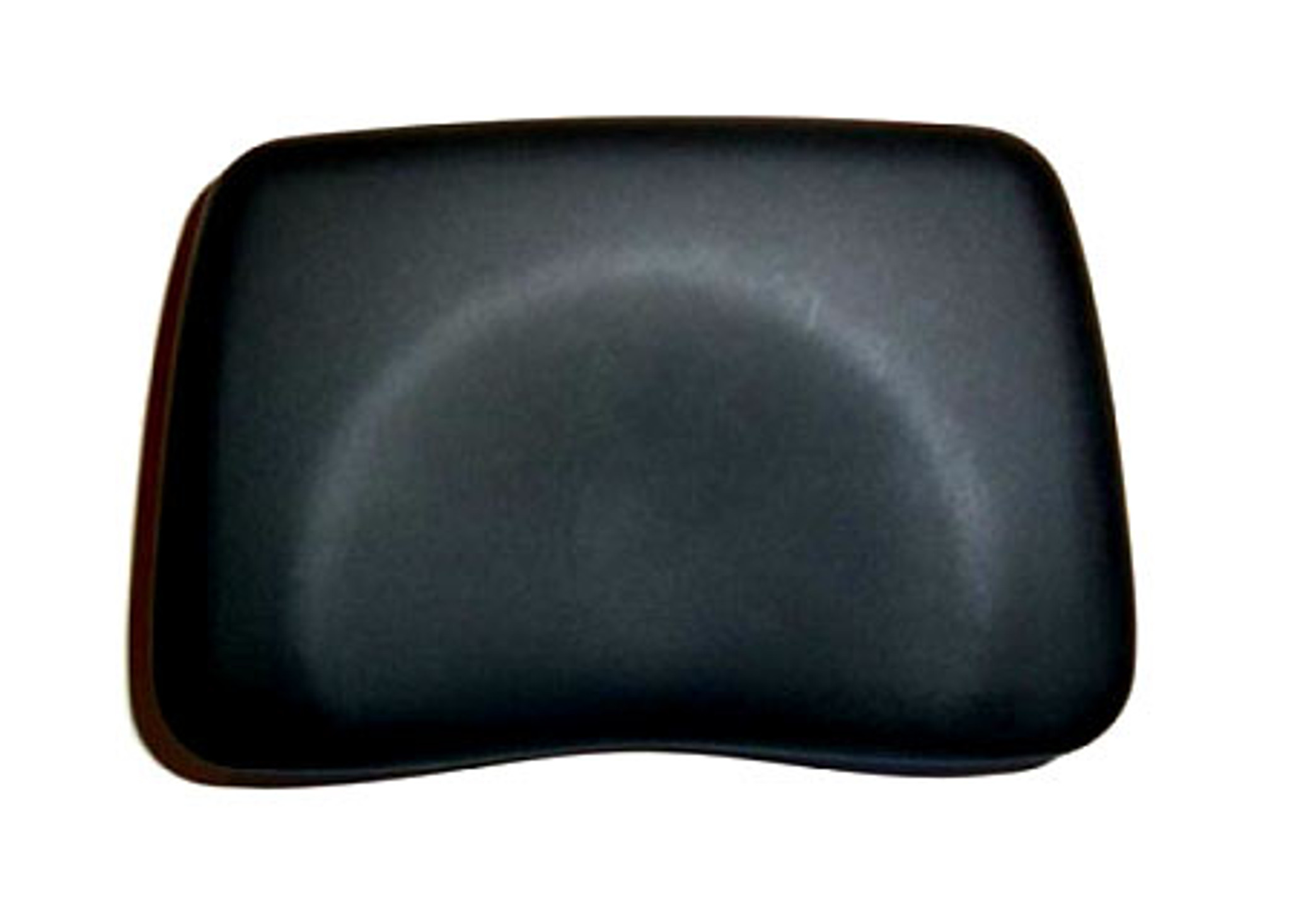 foam contoured tanning bed pillow black