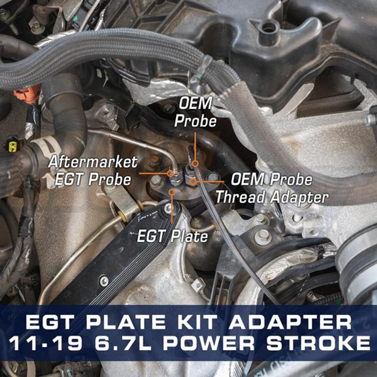 pyrometer egt plate kit for 2011 2019 ford 6 7l power stroke