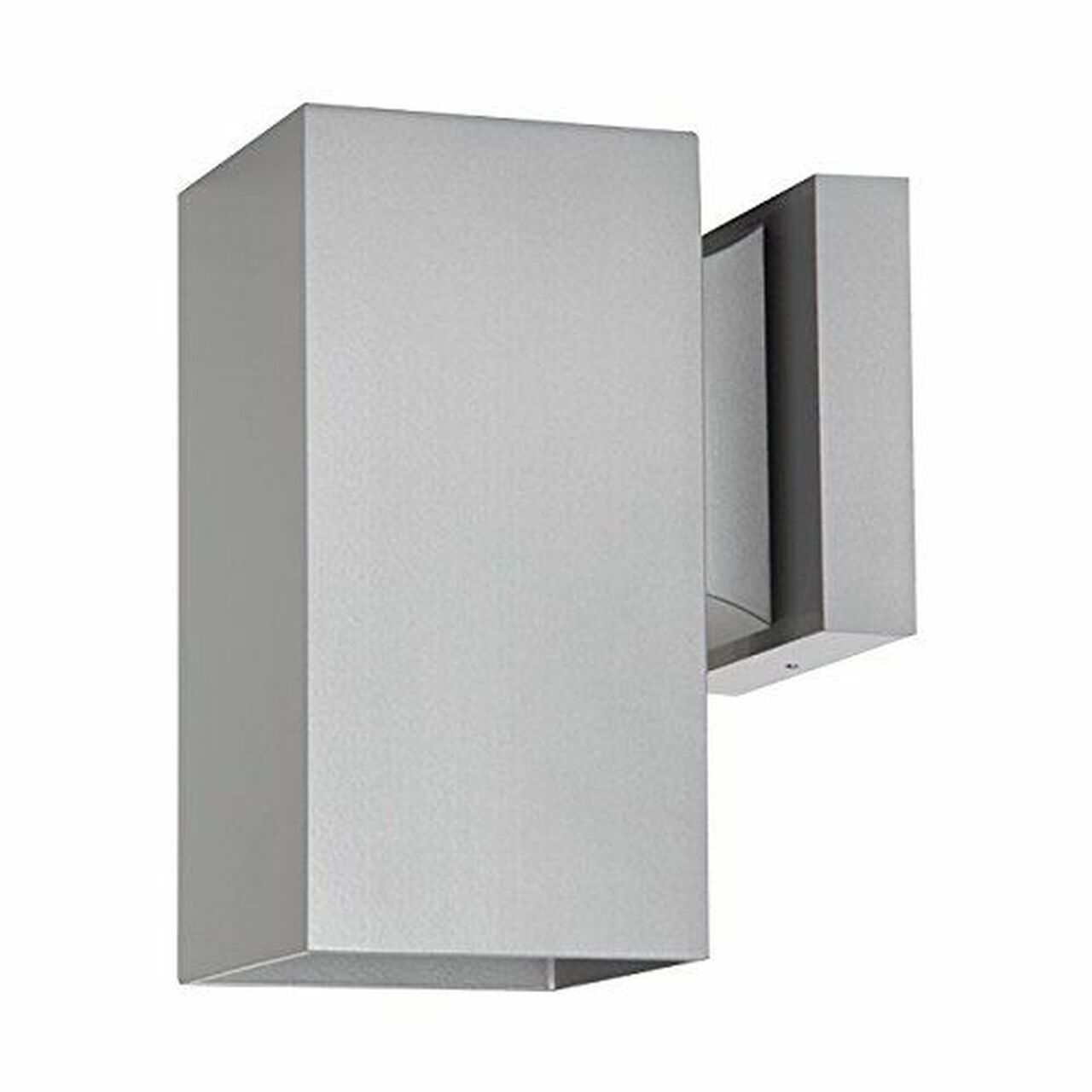 sunset f6891 58 1 light silver powder coat square aluminum exterior wall sconce
