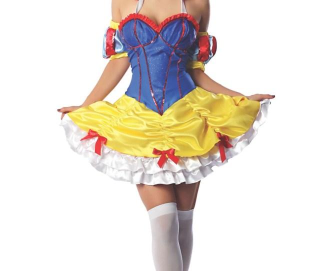 Snow White Princess Sexy Womens Adult Dress Costume Halloween S M