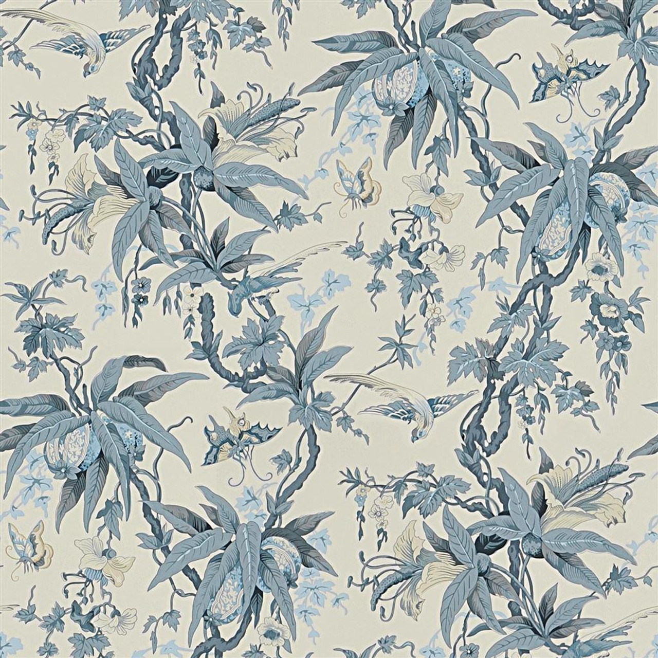 Ralph Lauren Mary Day Botanical Wallpaper Prl5023 01 Slate