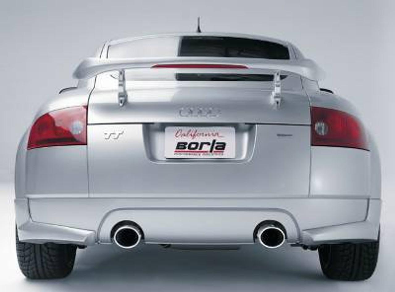 borla cat back exhaust for 2000 04 audi tt mk i 1 8t 14951 w dual polished tips