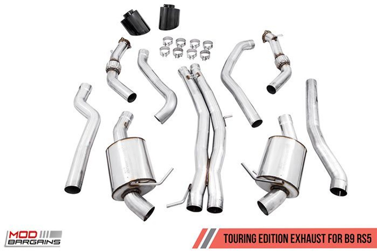 awe touring edition exhaust for audi b9 rs 5 coupe non resonated 3015 33108