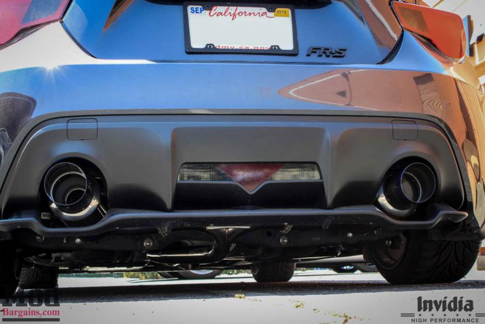 invidia n1 cat back exhaust for 2013 15 scion fr s subaru brz zn6 zc6 model hs12sstgt