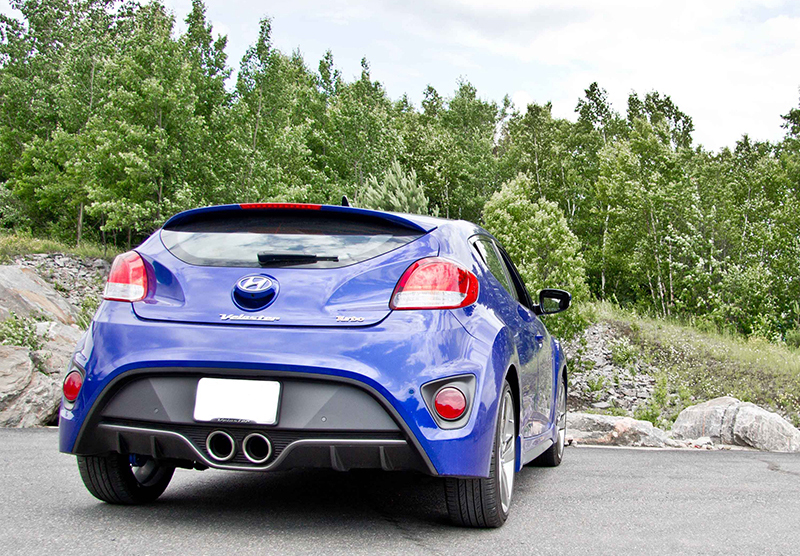 no longer available mbrp cat back exhaust for 2013 14 hyundai veloster turbo w or w o tips s4700 s4701