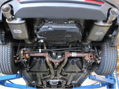mach force xp cat back exhaust for 2011 2014 ford mustang gt by afe power