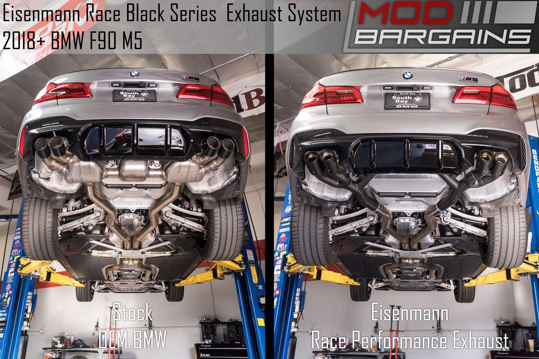 eisenmann black series race exhaust for 2018 bmw m5 f90 b5555 20904 bc