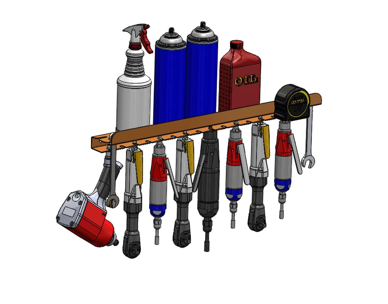 air tool rack low profile
