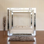Buy This Custom Mirrored Canopy Bed Without Headboard Mahogany Mills