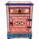 Pink Painted Nightstand