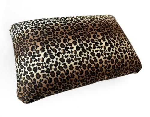 cushie pillows 14 x 20 large microbead rectangle pillow leopard