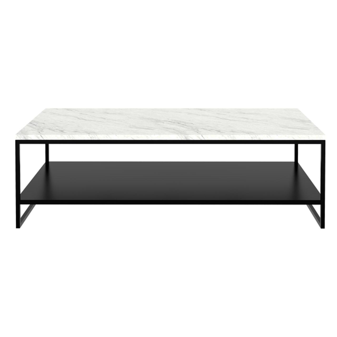 marble stone black metal coffee table