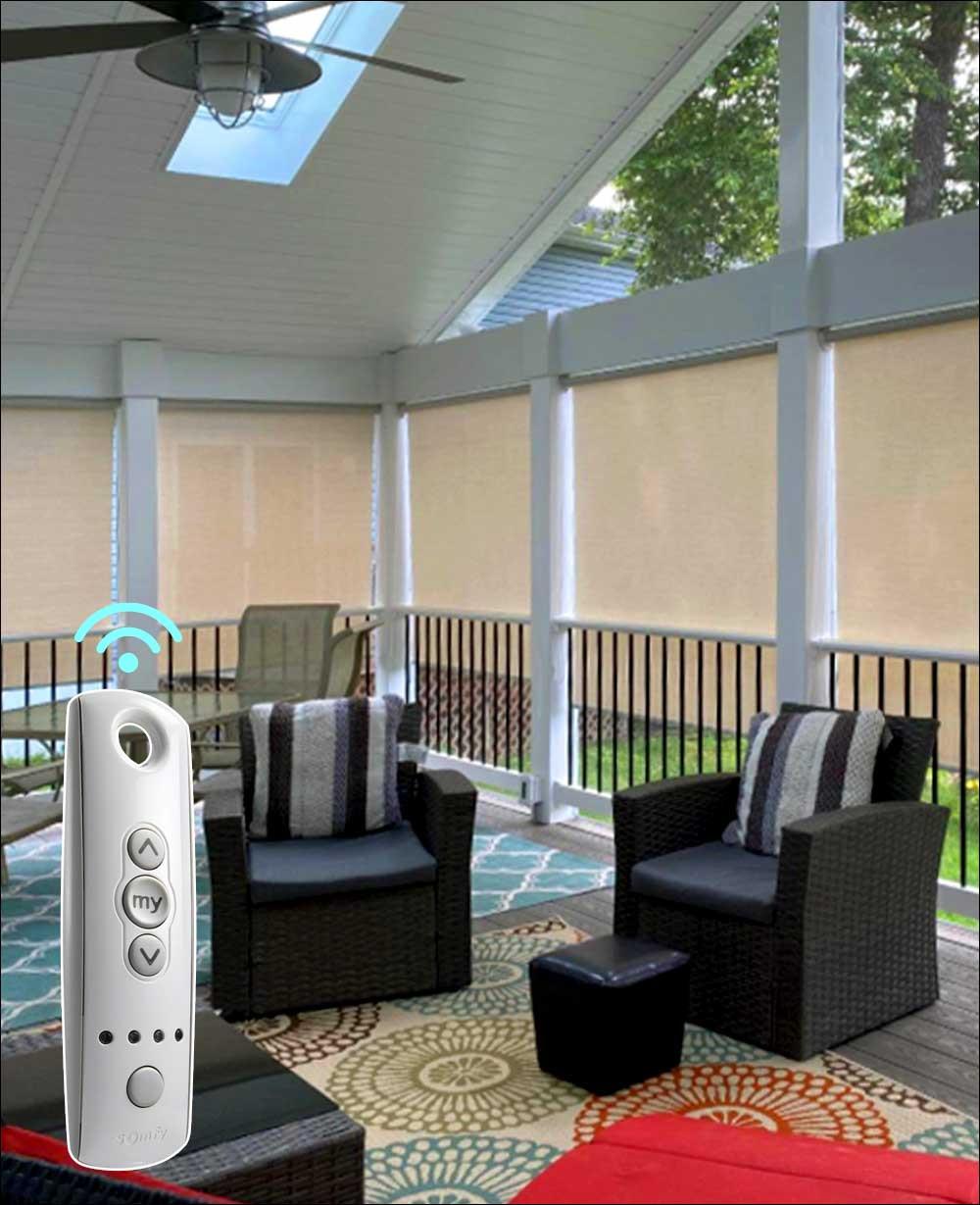5 10 solar indoor outdoor motorized shades somfy smart home system