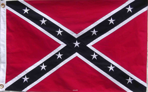 embroidered confederate flag shower curtain