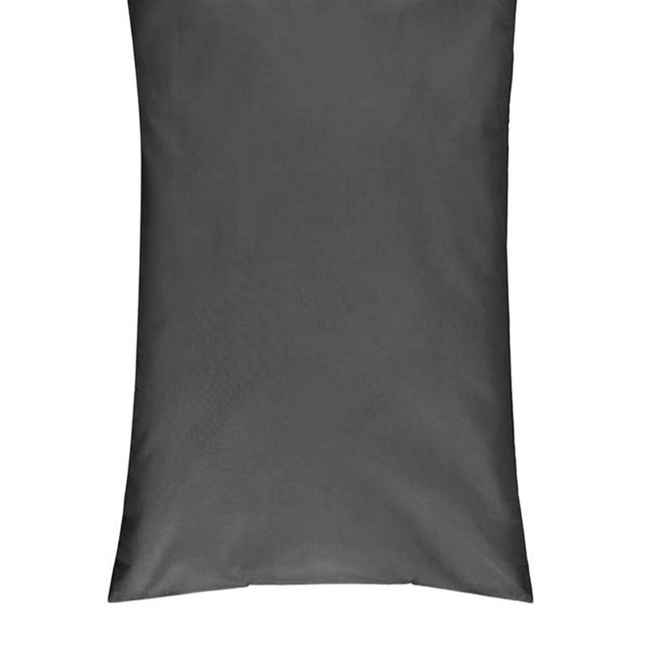 charcoal 250tc cotton percale body pillowcase
