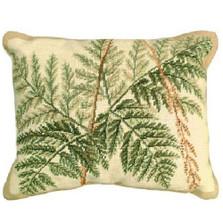 fern needlepoint pillow down pillow