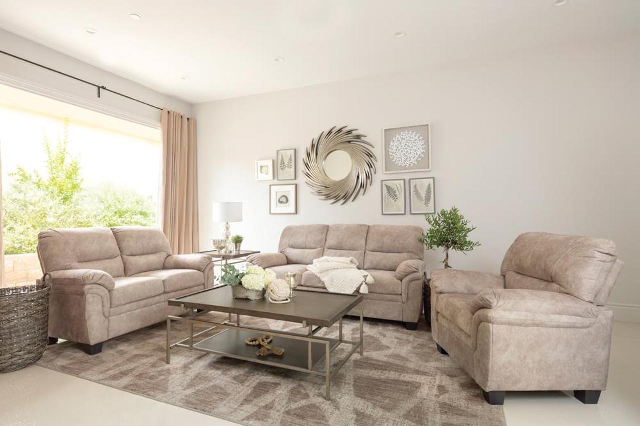 beige holman pillow top arm sofa beige 509251