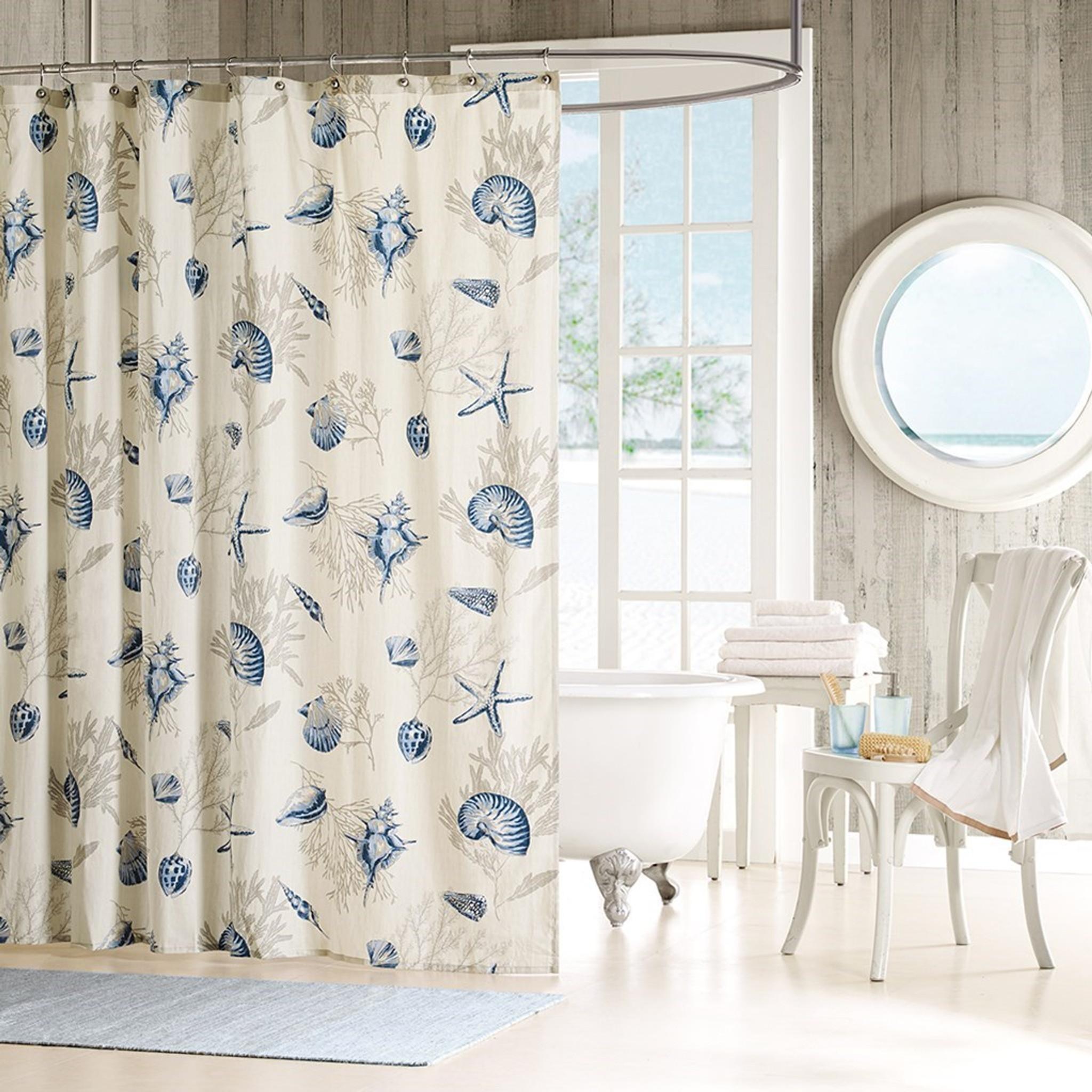 bayside shells shower curtain