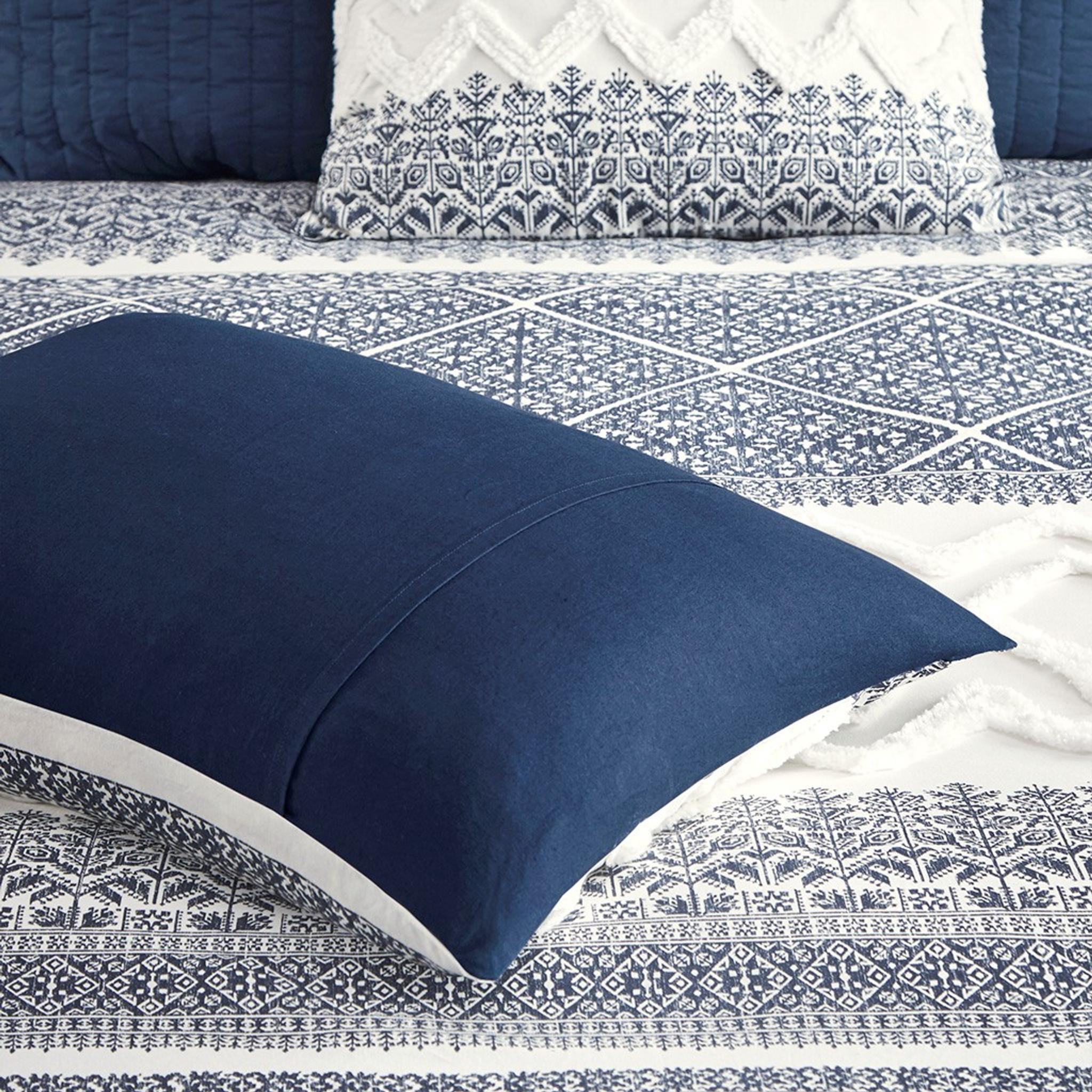 malibu boho navy and white comforter set queen
