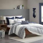 Malibu Boho Navy And White Comforter Set King Caron S Beach House