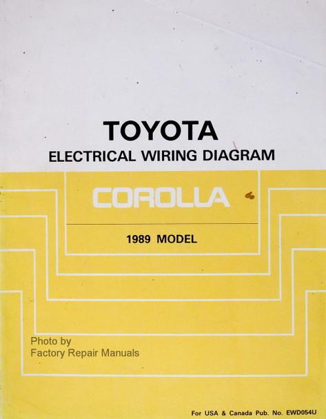 1989 toyota corolla electrical wiring diagrams manual original ewd