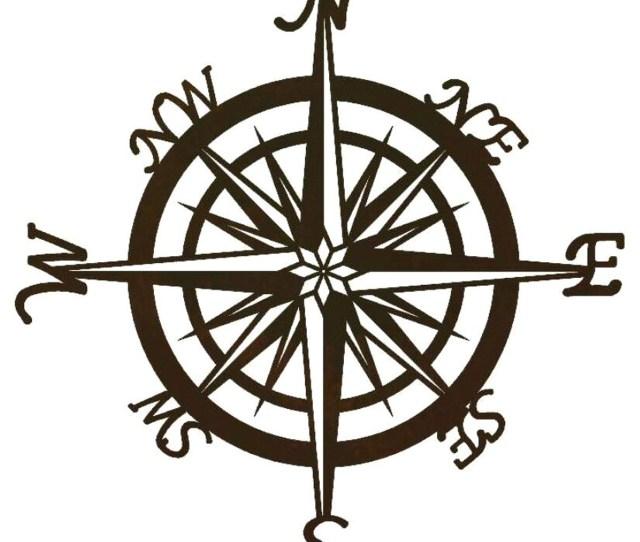 Compass Metal Wall Art Nautical Wall Decor