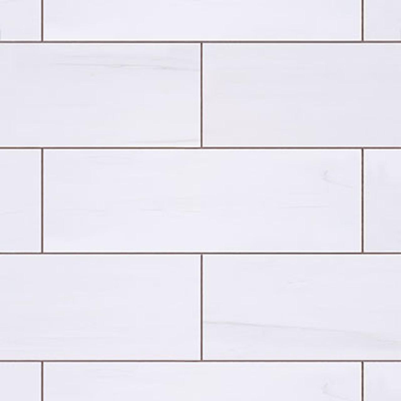 4x12 bianco dolomite marble subway tile polished