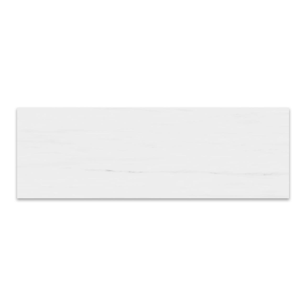 4x12 bianco dolomite marble subway tile honed