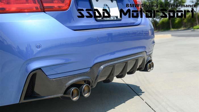 rennessis aero carbon fibre quad exhaust diffuser for f32 f33 f36 msport models