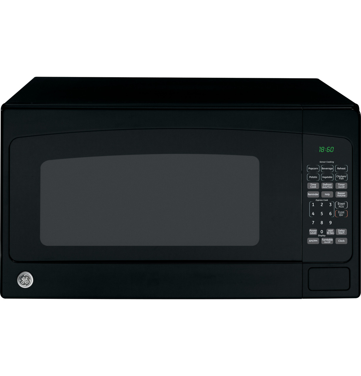 ge 1 8 cu ft countertop microwave oven jeb1860dmbb
