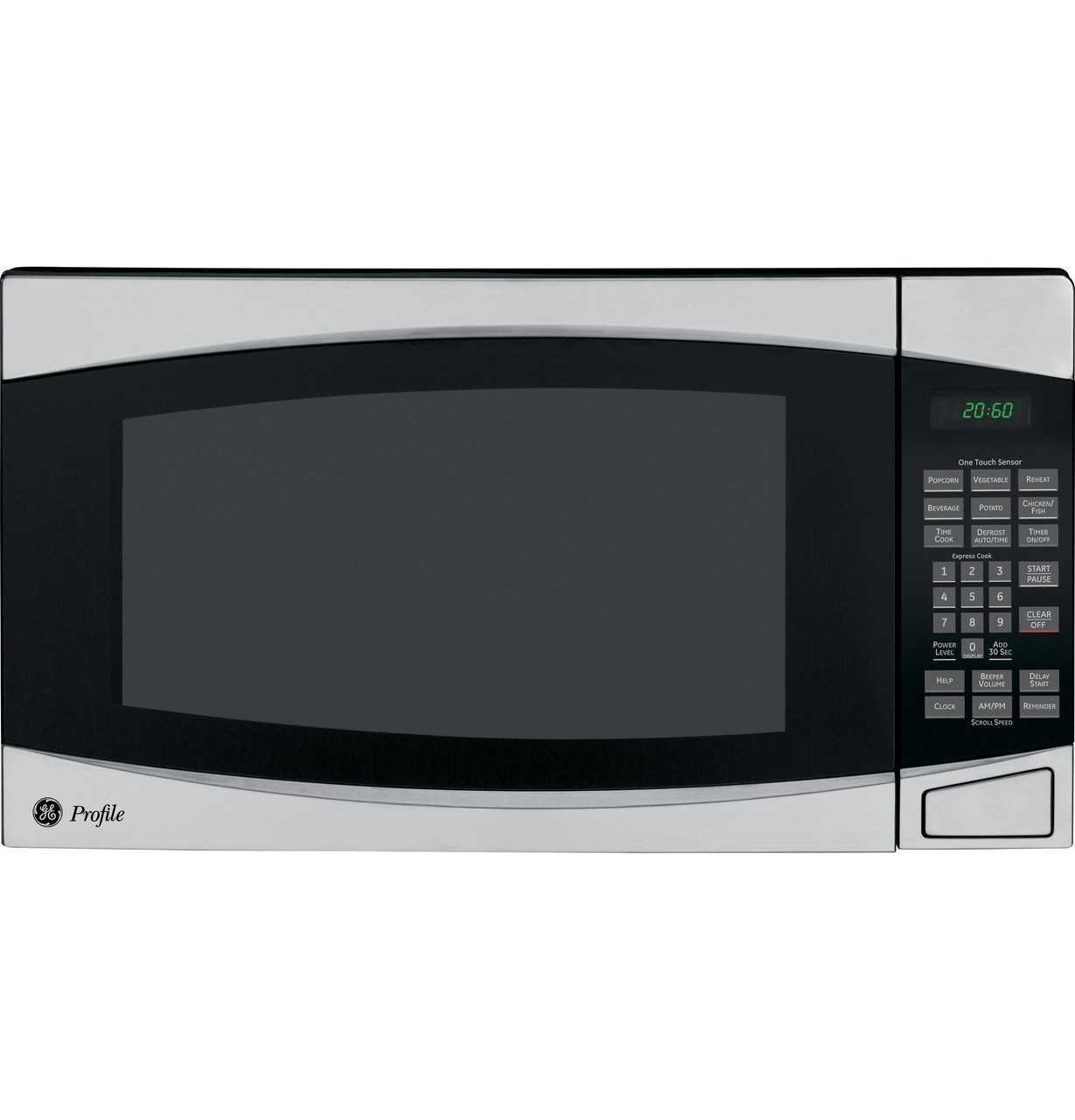 ge profile 2 0 cu ft countertop microwave oven peb2060smss