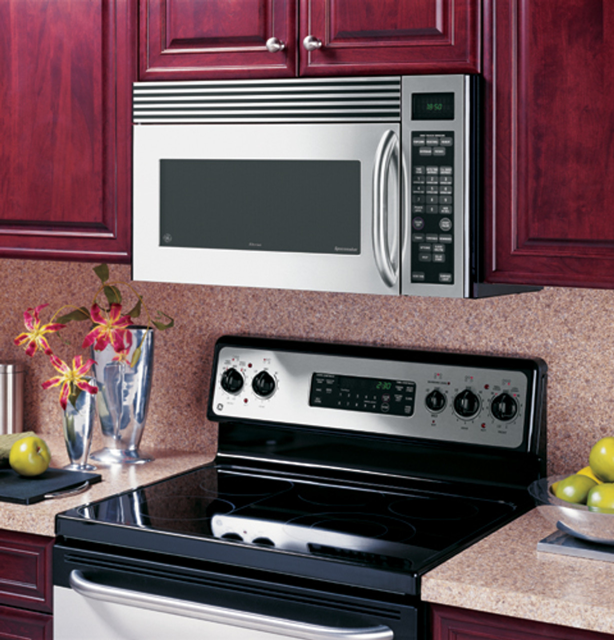 ge 1 8 cu ft over the range microwave oven emo4000jss