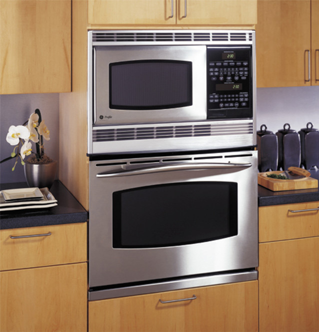 ge profile 30 built in double microwave convection oven jt965skss