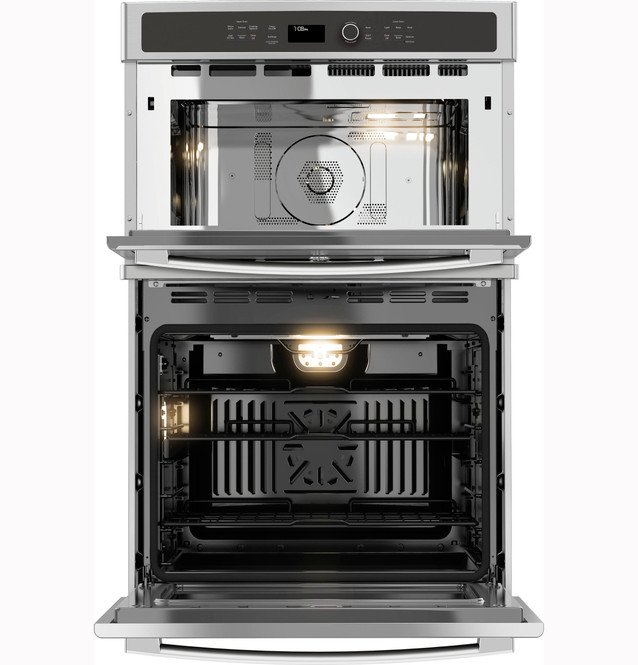 ge profile 27 built in combination convection microwave convection wall oven pk7800skss
