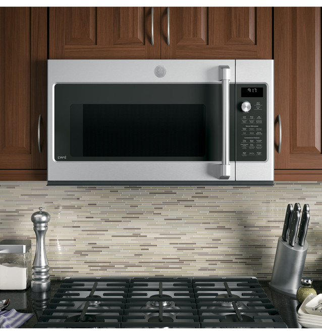 ge cafe series 1 7 cu ft convection over the range microwave oven cvm9179slss
